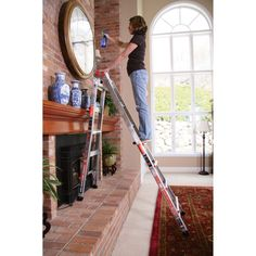 The Little Giant® RevolutionXE™ is one of the lightest multi-use ladders on the market — lighter than comparable ladders. Fall Clean Up, Logging Equipment, Little Giants, Backyard Projects, Ladders, Lighter, Forrest Gump, Scaffolding, Chocolates