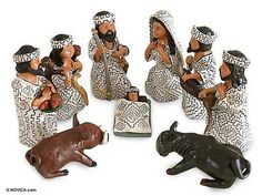Ceramic nativity scene, 'Amazon Christmas' (set of 9). Shop from #UNICEFMarket and help save the lives of children around the world.