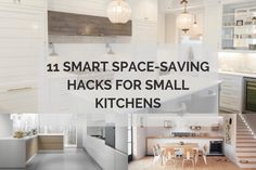 There are lots of ways you can make the most of the space in your small kitchen. Here, I've listed 11 smart space-saving hacks for small kitchens. Kitchen Island Decor, Modern Kitchen Island, Home Decor Kitchen, Home Decor Bedroom, Kitchen Islands, Kitchen Cost, Ikea Kitchen, Kitchen Pantry, Rustic Kitchen