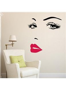 Cheap bedroom decor, Buy Quality home decor directly from China eyes wall stickers Suppliers: sexy girl lip eyes wall stickers living bedroom decoration diy vinyl adesivo de paredes home decals mural art poster home decor Wall Stickers Red, Removable Wall Stickers, Vinyl Wall Decals, Vinyl Art, Diy Bedroom Decor, Living Room Decor, Diy Home Decor, Bedroom Ideas, Living Rooms