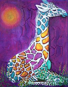 A Giraffe of Many Colors