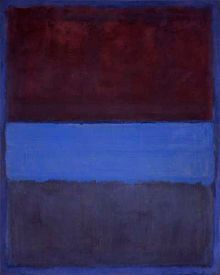 Rothko - No. 61 (Rust and Blue), 1953, 115 cm × 92 cm (45 in × 36 in). Museum of Contemporary Art, Los Angeles
