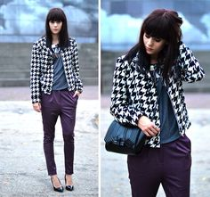 Get this look: http://lb.nu/look/4141300  More looks by Lucy De B.: http://lb.nu/lovelybylucy  Items in this look:  Dogtooth Jacket