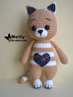 Baby Knitting Patterns Coat Mika the Cat Crochet Amigurumi Toy by NellyHM on EtsyHow to Crochet a Bear - Crochet Ideas Crochet Animal Amigurumi, Crochet Animal Patterns, Crochet Doll Pattern, Crochet Bunny, Stuffed Animal Patterns, Cute Crochet, Amigurumi Doll, Crochet Animals, Amigurumi Patterns