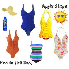 swimwear for Apple Shape (created by superjess14 on Polyvore)