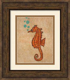 Seahorse Framed Print By Maria Ines Quevedo