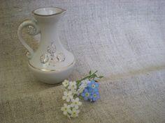 Vintage miniature vase mini pitcher porcelain by vintagefullhouse, $17.40