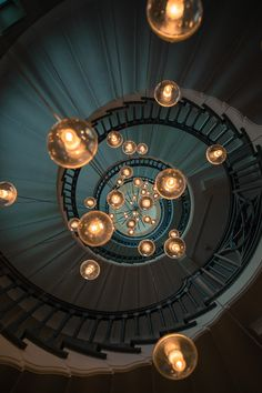 Spiral staircase lighting source unknown - Architecture and Home Decor - Bedroom - Bathroom - Kitchen And Living Room Interior Design Decorating Ideas - Interior Architecture, Interior And Exterior, Interior Design, Stairs Architecture, Room Interior, Stairway To Heaven, Deco Design, Lamp Design, Lighting Design