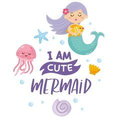 Vinilos decorativos y pegatinas infantiles frase sirenita Cute Mermaid, Sentences, Frames, Decorating Bedrooms, Decorate Walls, Wall Decals, Youth Rooms, Mermaids, Vinyls