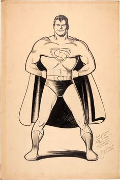 Joe Shuster Superman Specialty Illustration Original Art (c.1941)