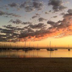 Last night's spectacular sunset captured by @neilholt_photography #destinationgeelong #geelong #geelongwaterfront #sunset #yachts #autumn #visitvictoria #seeaustralia by destinationgeelong http://ift.tt/1JtS0vo
