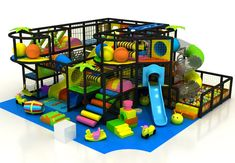 This indoor playground equipment design are more focus on function than appearance, have make as much as play attractions inside, on level one have so. Piscina Playground, Indoor Playground, Indoor Jungle Gym, Attraction, Soft Play Equipment, Soft Play Area, Kids Gym, Kitchen Room Design, Play Centre