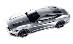 Ford Mustang Design Sketch by Kemal Curic Car Design Sketch, Car Sketch, Tool Design, Design Model, Supercars, Design Autos, Car Illustration, Illustrations, Car Drawings