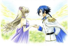 CODE GEASS, Akito the exiled, Leila Malkal with Hyuga Akito