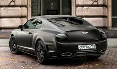 Matte Black Bentley Continental GT. OMG.