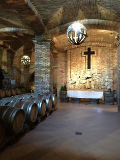 "The altar, one of the most beautiful spot of the Antonio Caggiano's cellar. Do note the crucifix made of wine bottle bases. Too bad there was no Mass, it would be fanciful to hear the priest say ""take this, all of you, and drink from it""."