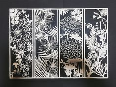 3d Paper Crafts, Diy Paper, Paper Crafting, Paper Cutting Patterns, Paper Cutting Art, Cut Out Art, Paper Cut Design, Paper Artwork, Origami Paper