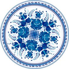 Ornate blue plate in gzhel style (traditional style of Russian ceramics, painted with blue on white). by art_of_sun, via ShutterStock Decoupage, Deco Floral, Bottle Cap Images, Blue Plates, Paint Shop, Pattern Wallpaper, Pattern Art, Blue Flowers, Folk Art