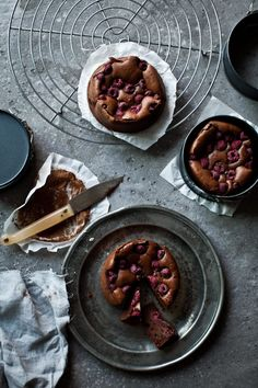 Spelt Brownies with Raspberries | Photography and Styling by Sanda Vuckovic