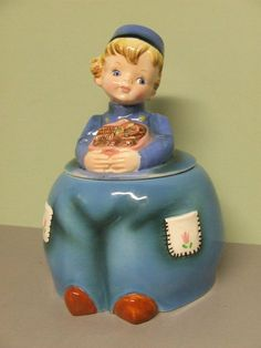 VHTF/Rare Vintage Lefton Dutch Boy Cookie Jar (ESD/Japan/#MR22072)