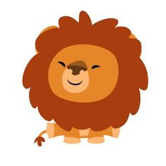 cute cuddly cartoon lion sticker by lioness_graphics