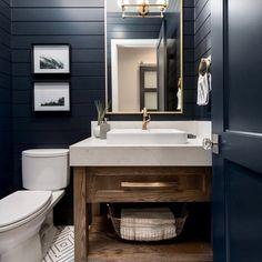 40 Ideas For Farmhouse Exterior Paint Colors Fixer Upper Benjamin Moore Bad Inspiration, Bathroom Inspiration, Bathroom Colors, Small Bathroom, Bathroom Wall, Master Bathroom, Bathroom Lighting, Black Interior Design, Yellow Bathrooms