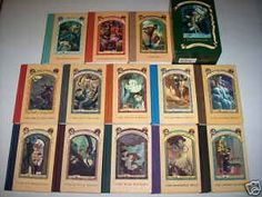 A Series of Unfortunate Events. Hardcover. Thirteen in the series. For pre-teens. Recommend.