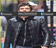 Orlando Black Leather Jacket