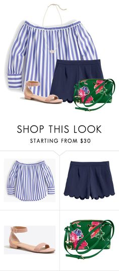 """""""Update on ring: I cant find the owner"""" by flroasburn ❤ liked on Polyvore featuring J.Crew, Kate Spade and Kendra Scott"""