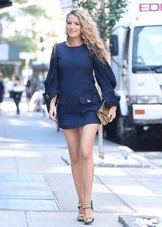 Blake Lively is seen walking in Soho on June 22, 2016 in New York City.