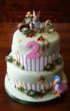 Peter Rabbit First Birthday Cake Childrens Cakes Pinterest