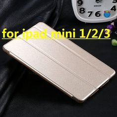 New Transparent Clear Leather Case for ipad mini Champange gold Luxury Stand Function Cover Tablets Accessories 7 Color RCD03737