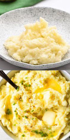 Mexican Food Recipes, Vegetarian Recipes, Cooking Recipes, Healthy Recipes, Best Thanksgiving Side Dishes, Thanksgiving Recipes, Mashed Potato Recipes, Recipe For Mashed Potatoes, Thanksgiving Mashed Potatoes Recipe