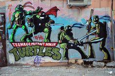 TMNT Graffiti Wall