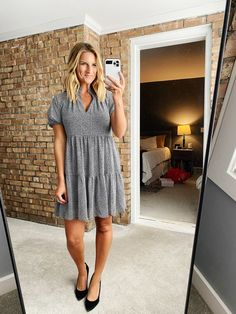 Chic Summer Dress // What to wear to a casual Summer event // Easy to wear dress for a shower // Summer Dress // Summer Fashion Summer Events, Everyday Outfits, Affordable Fashion, Outfit Of The Day, What To Wear, Summer Dresses, Casual, Today's Outfit, Summer Sundresses