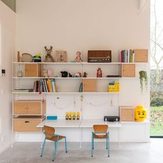 best kids room ideas for boys barnerom kids room shelves Kids Storage Shelves, Kids Room Shelves, Storage Ideas, Kids Desk Organization, Bookshelves Kids, Toy Storage, Wall Shelves, Home Bedroom, Kids Bedroom