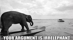 Your argument is irrelephant