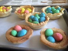 Caraway cookie nests and eggs for Easter