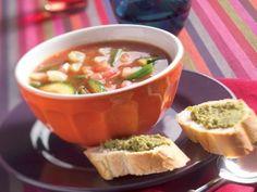 Franse soep met pesto