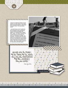 #papercrafting #scrapbook #layout idea: Allie Scraps | Book Lovers