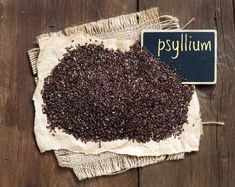 [ Psyllium Seeds With A Small Chalkboard On Wooden Background Small Chalkboard, Raspberry Leaf Tea, Breakfast Cereal, Fibres, Ayurveda, Herbalism, Seeds, Remedies, Stock Photos