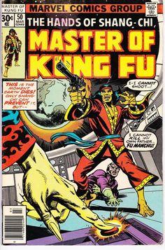 The Hands of Shang Chi, Master of Kung Fu # 50 Comic Book Covers, Comic Books Art, Marvel Series, Classic Comics, Vintage Comics, Cultura Pop, Comic Artist, Comic Character, Kung Fu