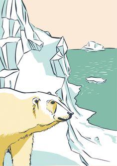 Icebear, Illustration Tanja Di Maria Illustrator, Birds, Animals, Fictional Characters, Art, Switzerland, Art Background, Animales, Animaux