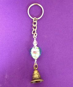 Bell Keychain by AnnPedenJewelry on Etsy