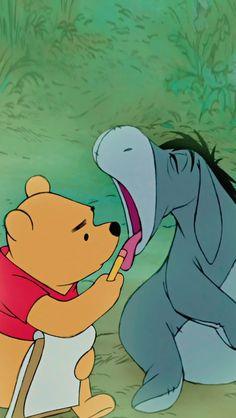 Winnie-the-Pooh & Eeyore Winnie The Pooh Friends, Disney Winnie The Pooh, Winnie The Pooh Quotes, Wallpapers Geek, Cute Cartoon Wallpapers, Disney Phone Wallpaper, Disney Aesthetic, Pooh Bear, Disney Films