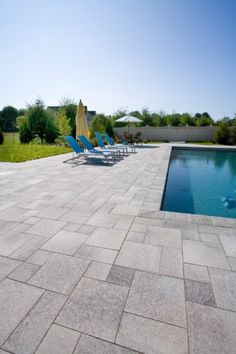 Backyard pool designs Unilock pool deck with Umbriano paver - Photos How To Choose The Right Faucet