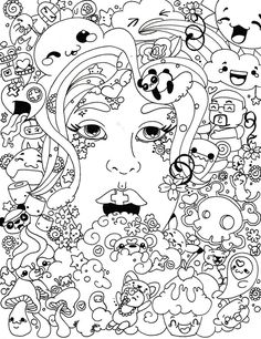 psychedelic coloring pages to download and print for free - Trippy Coloring Books