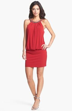 Teatro Zinzanni Look - Laundry by Shelli Segal Embellished Blouson Dress | Nordstrom
