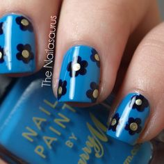 Simple Do Yourself Nail Designs | The Nailasaurus: Video Tutorial: Simple Flower Nail Art