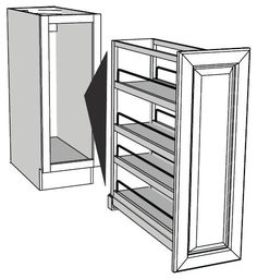 Spice rack - Hmm...maybe could build some simple rack, tall and narrow, mounted on pull out...like several of these, only smaller, for the spice cabinet